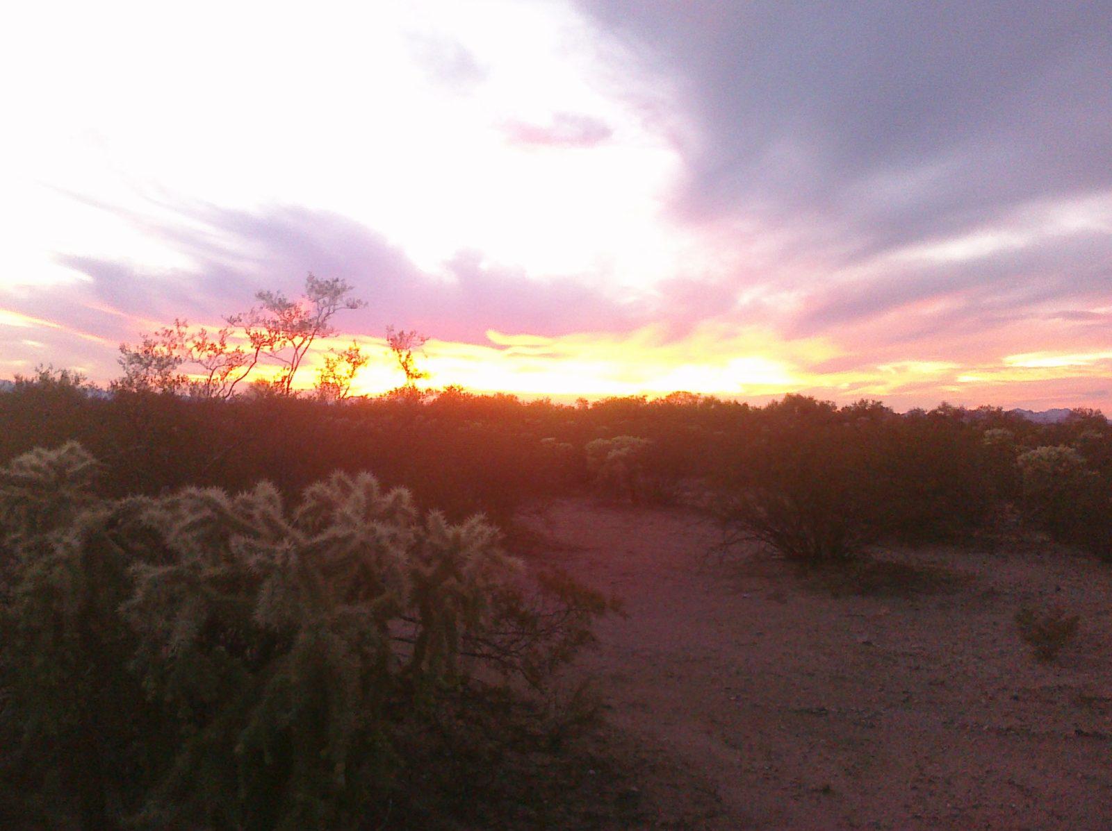 Sunrise over the Desert CIMG0001
